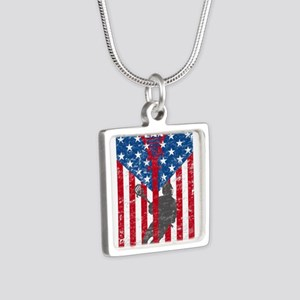 American Flag Red White and Blue LAX Lac Necklaces