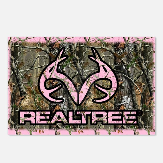 Pink Real Tree Postcards (Package of 8)