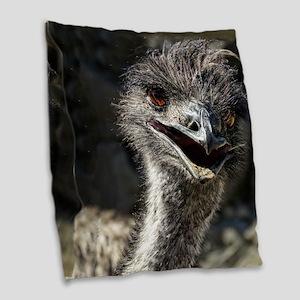 Helaine's Emu Burlap Throw Pillow