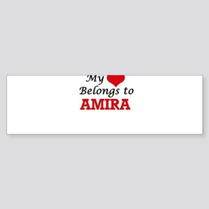 My heart belongs to Amira Bumper Sticker