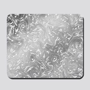 music notes in silver Mousepad