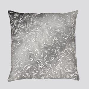 music notes in silver Everyday Pillow