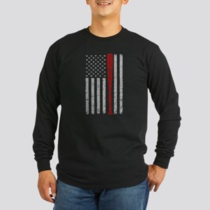 American Flag Baseball Vintage Long Sleeve T-Shirt