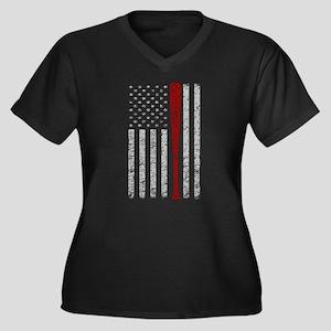 American Flag Baseball Vintage G Plus Size T-Shirt