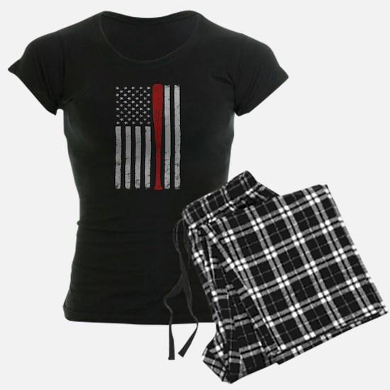 American Flag Baseball Vinta Pajamas