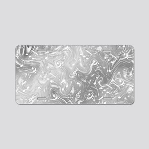 music notes in silver Aluminum License Plate
