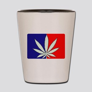 Red, White and Blue Weed Shot Glass