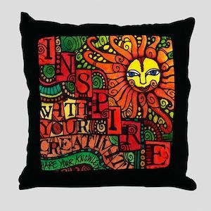 Inspire Creativity Throw Pillow