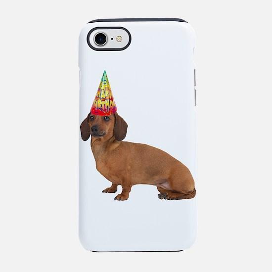 Dachshund Birthday iPhone 8/7 Tough Case