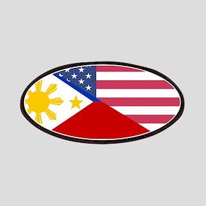 Half Philippines Half American Flag Patch