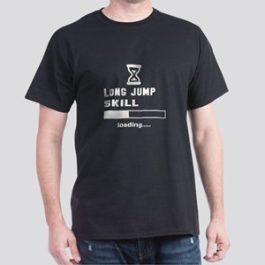 Long Jump Skill Loading... Dark T-Shirt