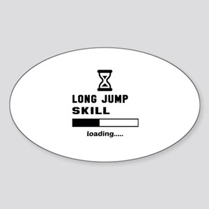 Long Jump Skill Loading... Sticker (Oval)