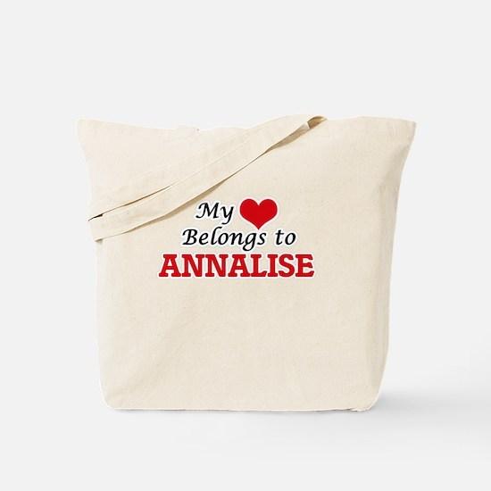 My heart belongs to Annalise Tote Bag