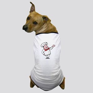 French Chef Welcome Greeting Cartoon Dog T-Shirt