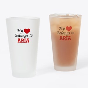 My heart belongs to Aria Drinking Glass