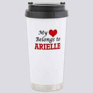 My heart belongs to Ari Stainless Steel Travel Mug