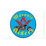 Masons who ride Postcards (Package of 8)