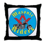 Masons who ride Throw Pillow