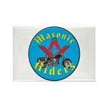 Masons who ride Rectangle Magnet (100 pack)