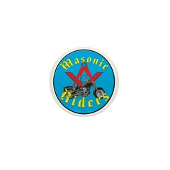 Masons who ride Mini Button