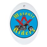 Masons who ride Oval Ornament