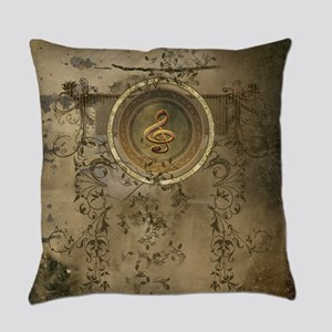 Clef on decorative circle Everyday Pillow