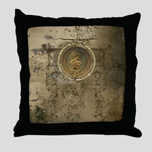 Clef on decorative circle Throw Pillow