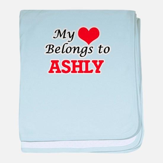 My heart belongs to Ashly baby blanket