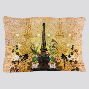 The eiffeltower with flowers Pillow Case