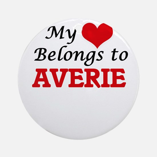 My heart belongs to Averie Round Ornament