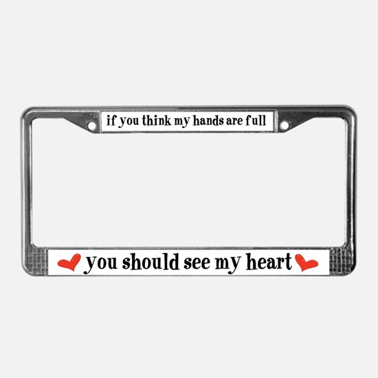 Funny Special children License Plate Frame