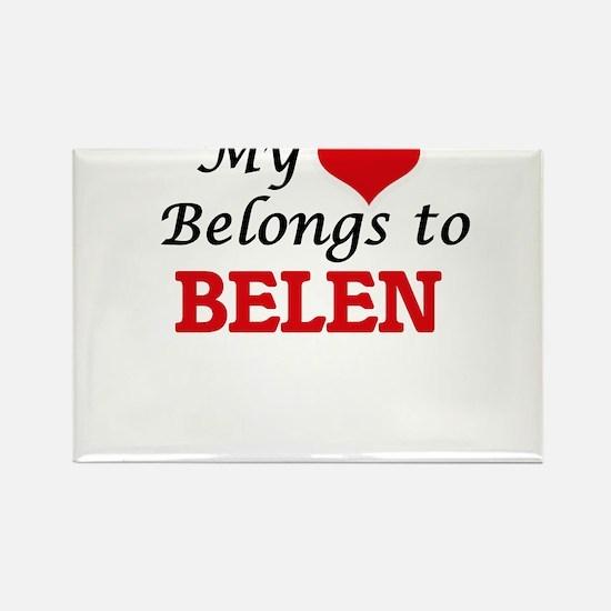 My heart belongs to Belen Magnets
