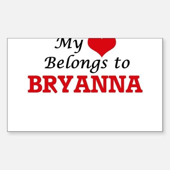 My heart belongs to Bryanna Decal