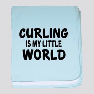 Curling Is My Little World baby blanket