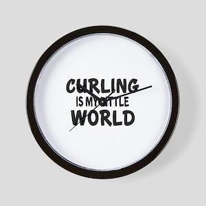 Curling Is My Little World Wall Clock
