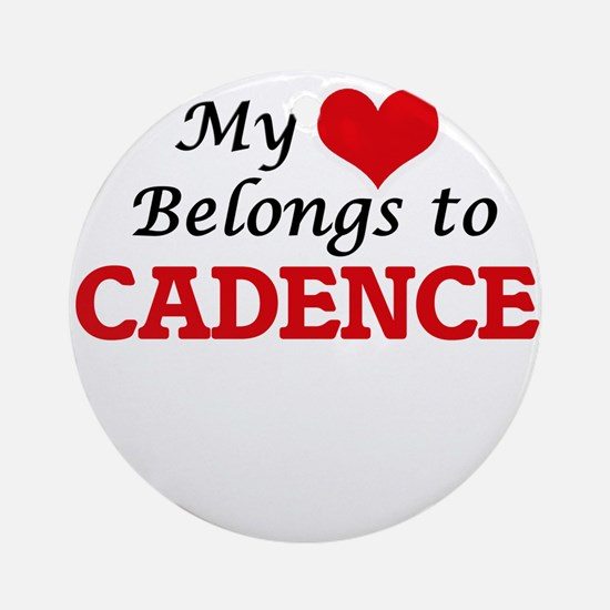 My heart belongs to Cadence Round Ornament
