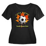 Home Women's Scoop Neck Dark Plus Size T-Shirt