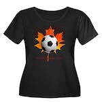 Away Women's Scoop Neck Dark Plus Size T-Shirt