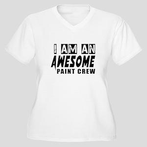 I Am Paint Crew Women's Plus Size V-Neck T-Shirt