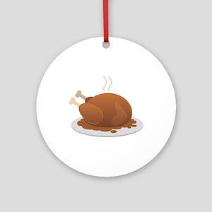 Turkey Dinner Round Ornament