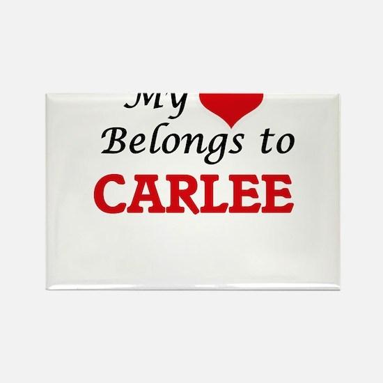 My heart belongs to Carlee Magnets