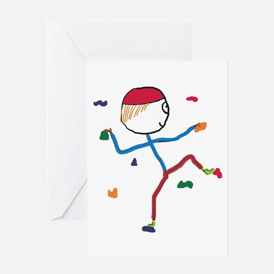 Indoor Climbing Greeting Cards