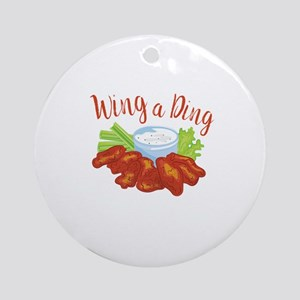 Wing A Ding Round Ornament