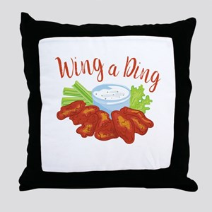 Wing A Ding Throw Pillow