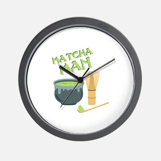 Matcha Man Tea Wall Clock