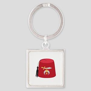 Fez Hat Keychains