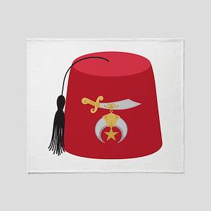 Fez Hat Throw Blanket