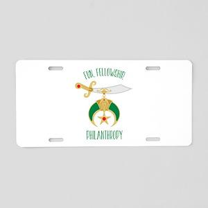 Fun Fellowship Philanthropy Aluminum License Plate