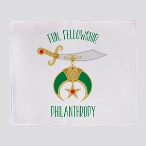 Fun Fellowship Philanthropy Throw Blanket