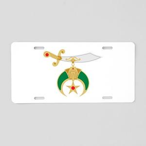 Shriner Sword Aluminum License Plate